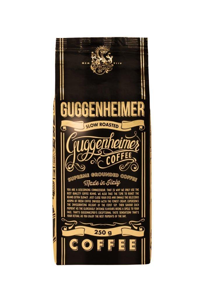 Guggenheimer grounded coffee kaffee gemahlen espresso front