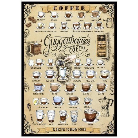 Kaffee Poster 35 recipes to enjoy coffee by Guggenheimer